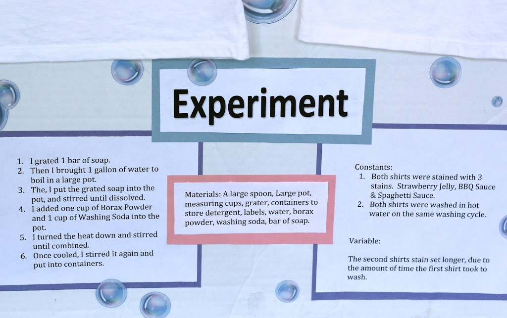 My Daughters Homemade Laundry Detergent Science Project