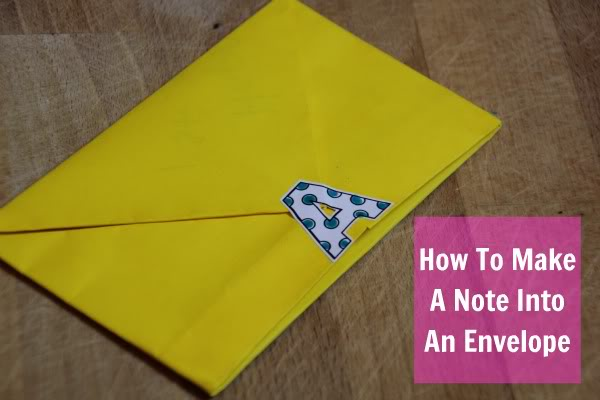 How To Make A Note Into An Envelope Perfect For A Back To