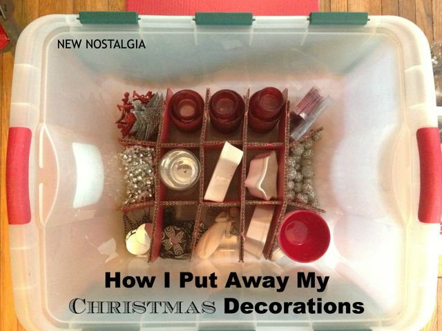 How I Put Away My Christmas Decorations