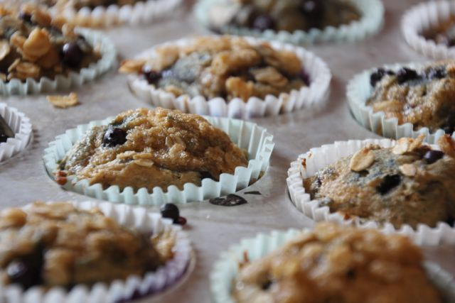 Streusel Topped Whole Wheat Blueberry Muffins - New Nostalgia