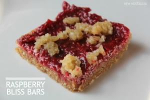 Raw raspberry bliss bars