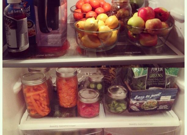 A Peek Inside Our Refrigerator & Using Mason Jars To Make It Pretty & Organized