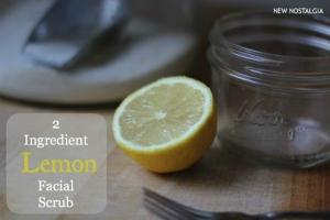 2 ingredient homemade lemon facial scrub via New Nostalgia