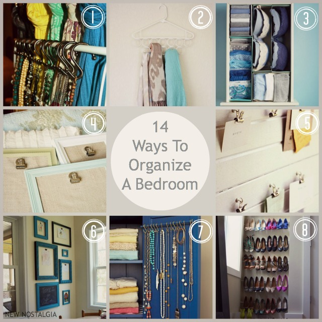 14 ways to organize a bedroom for Bedroom organization