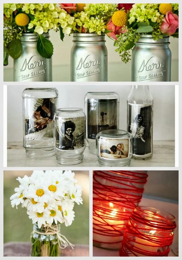 24 best diy mason jar vases votives photo holders new for Mason jar holder ideas