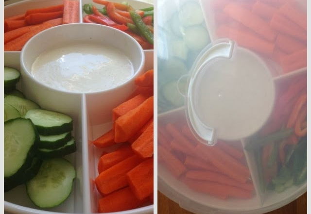 The Perfect Vegetable Tray-Keep It Full In Your Refrigerator & Watch Your Kids Devour Their Vegetables!