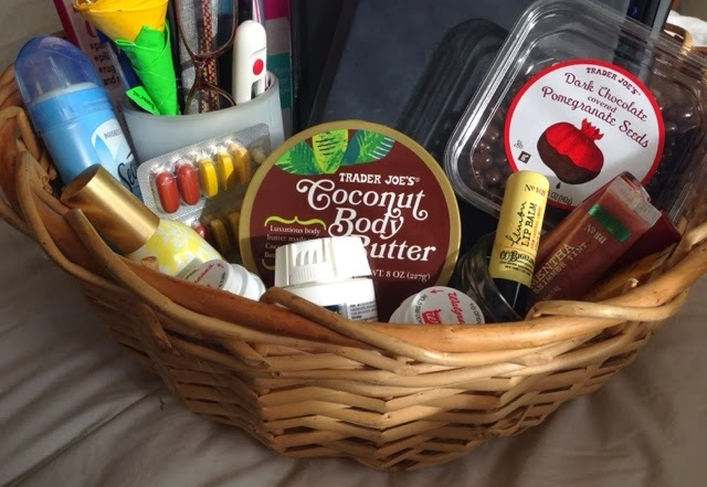 A By-The- Bed Basket –A Great Gift Idea For Someone Who Is Sick
