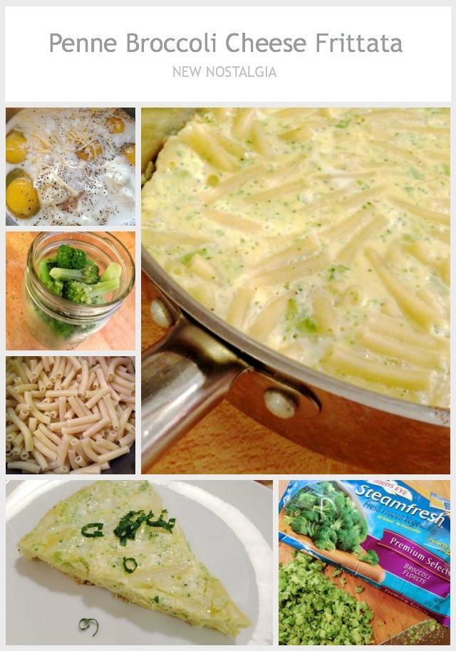 Penne Broccoli Cheese Frittata - New Nostalgia