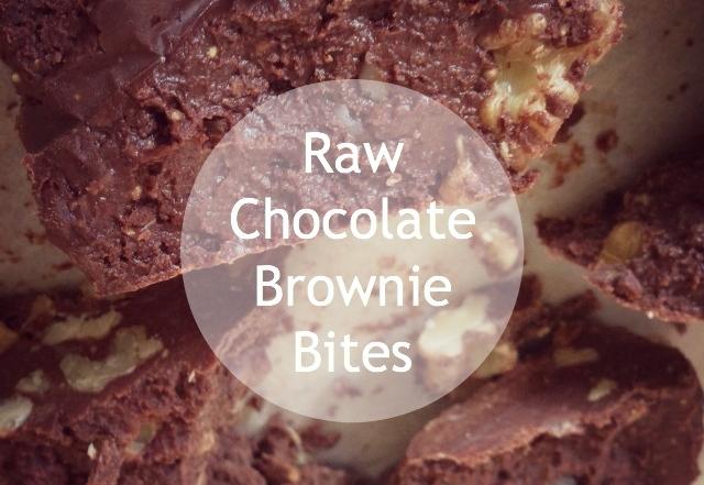 Sugar Free Raw Chocolate Brownie Bites