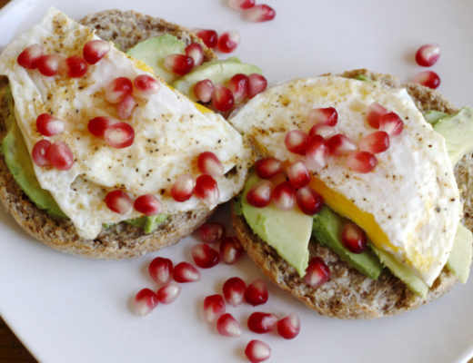 Avocado Pomegranate Egg Muffin