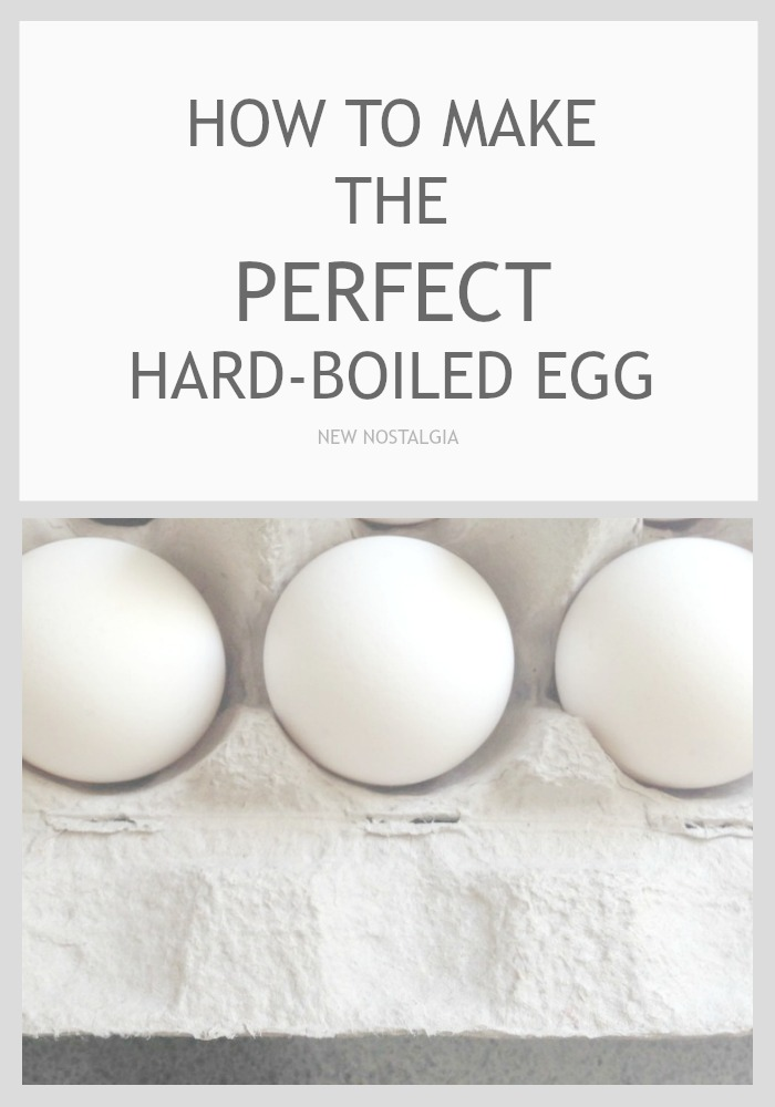 I have been on the hunt for the perfect way to make a hard-boiled egg, and finally found a method that works for me!